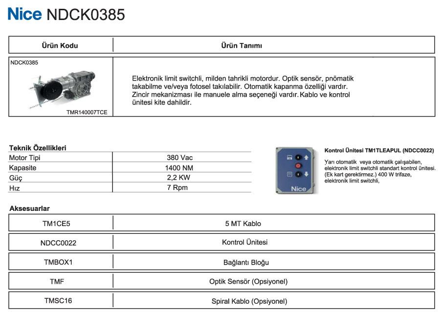 ndck-0385-teknik-bilgiler