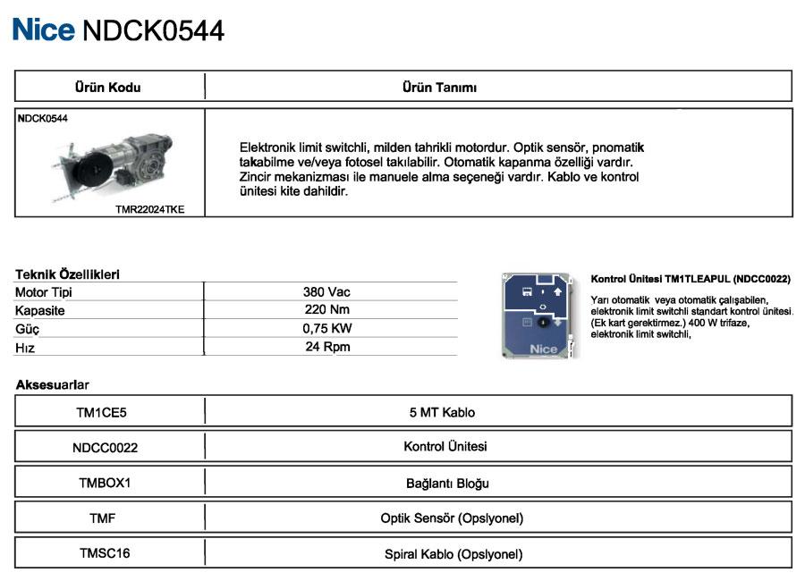 ndck-0544-teknik-bilgiler
