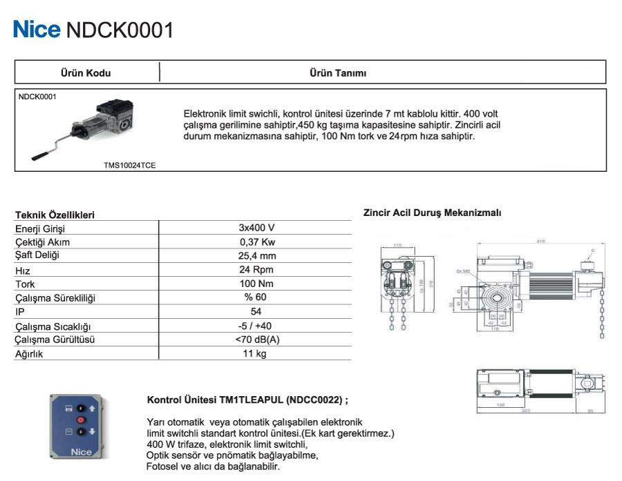nice-ndck-0001-teknik-ozellikler