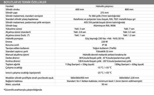 J275HA-mantar-bariyer-teknik-ozellikler